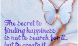 tale of two perspectives-the secret to finding happiness is not to search for it, but to create it.