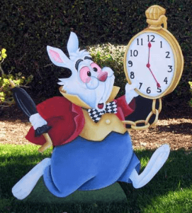 Expand time - White Rabbit with clock
